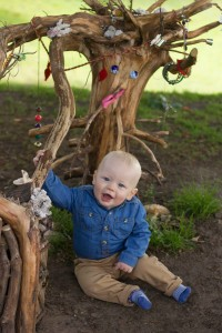 Thomas in the fairy homes at Vale Park