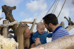 The Jones family enjoying the pirate ship at New Brighton