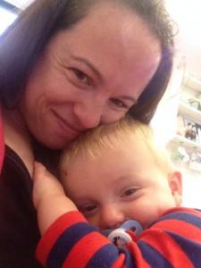 Poorly Joseph cuddling Mummy! My perfect selfie!