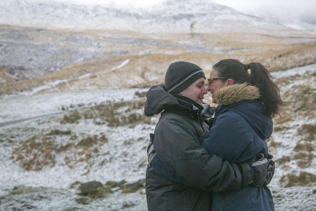 Love in the Saddleworth Tameside snow