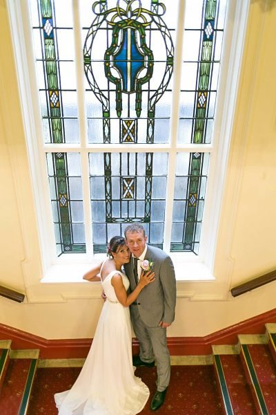 A wedding image by Inspired By Joseph oldham wedding photographer at Chadderton Town Hall
