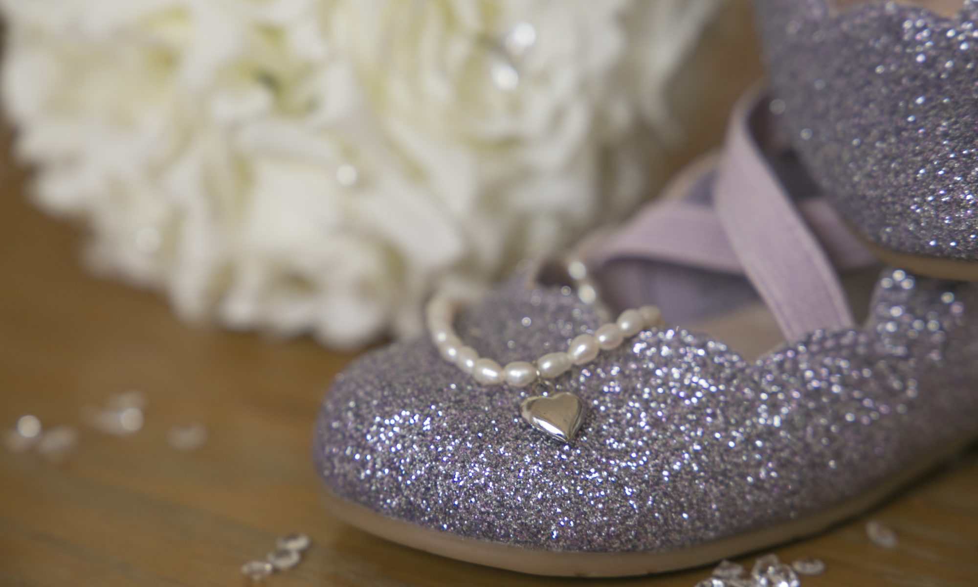 bride and flower girl shoes