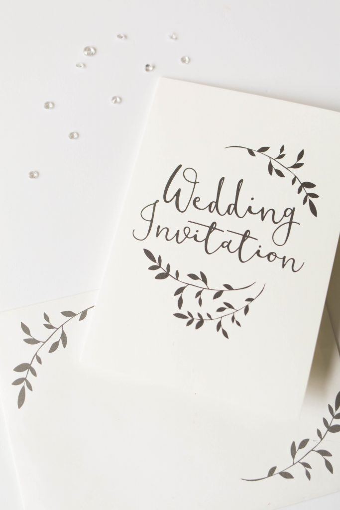 Oldham wedding photographer - wedding invitation