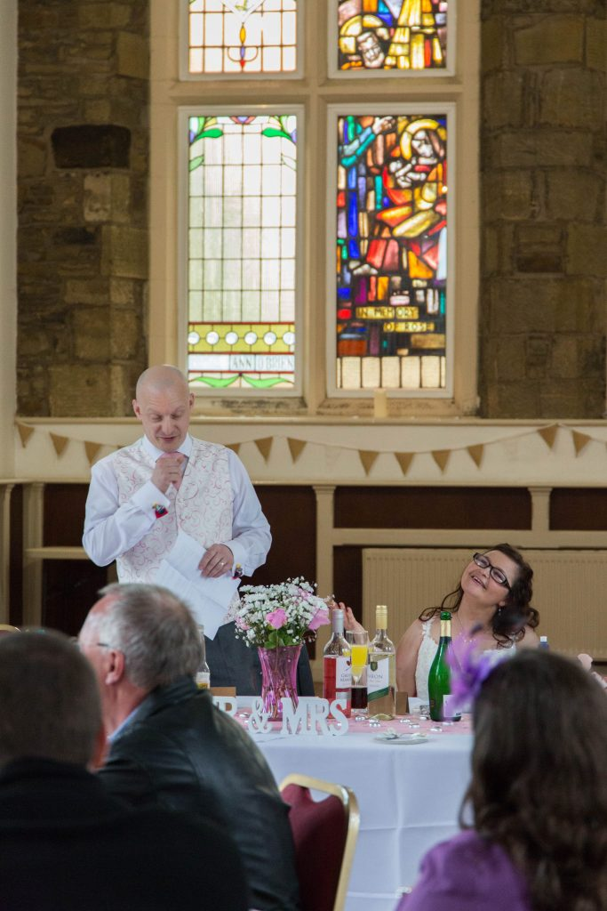 Oldham wedding photographer - wedding speech